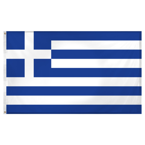Greece flag 3ft x 5ft Super Knit polyester