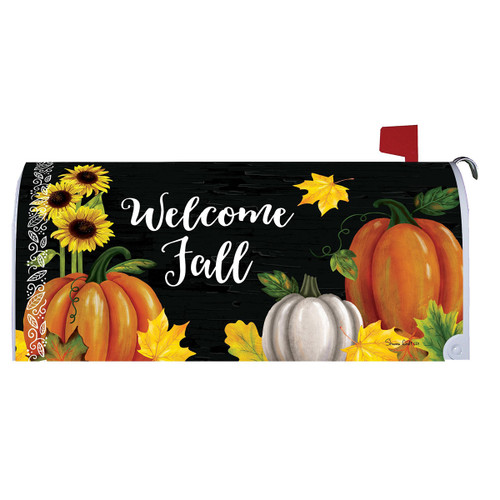 Fall Mailbox Cover - Pumpkin Trio