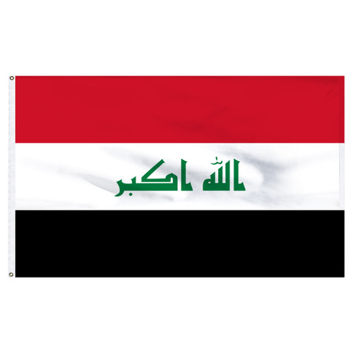 Iraq 5ft x 8ft Nylon Flag