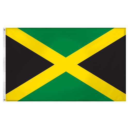 Jamaica flag 3ft x 5ft Super Knit Polyester