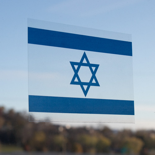 Israel Flag Window Cling