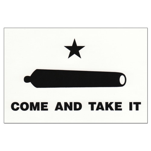 Gonzales  Flag Decal - Come and Take It