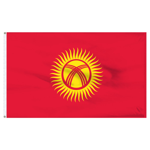Kyrgyzstan 5ft x 8ft Nylon Flag