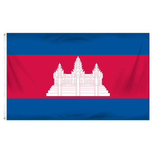 Cambodia 3ft x 5ft Printed Polyester Flag