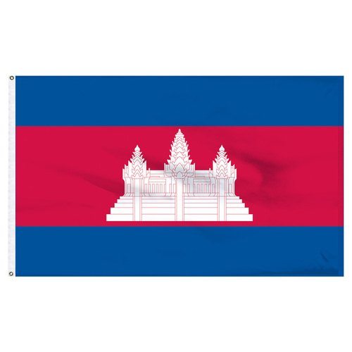 Cambodia 5ft x 8ft Nylon Flag