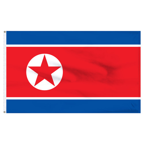 North Korea 4ft x 6ft Nylon Flag
