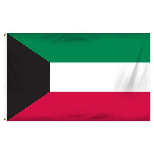 Kuwait 3ft x 5ft Printed Polyester Flag