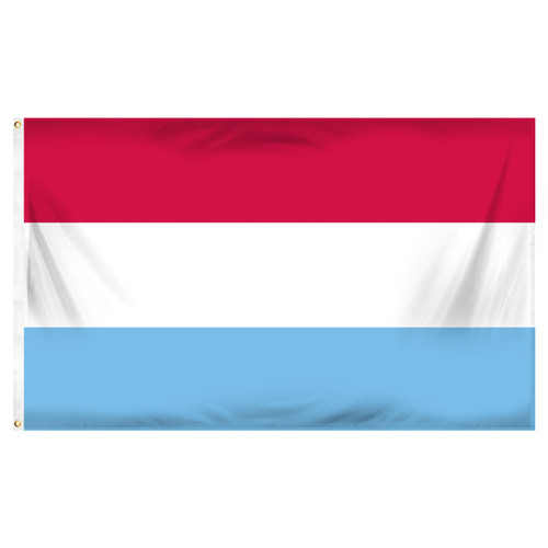Luxembourg 3ft x 5ft Printed Polyester Flag