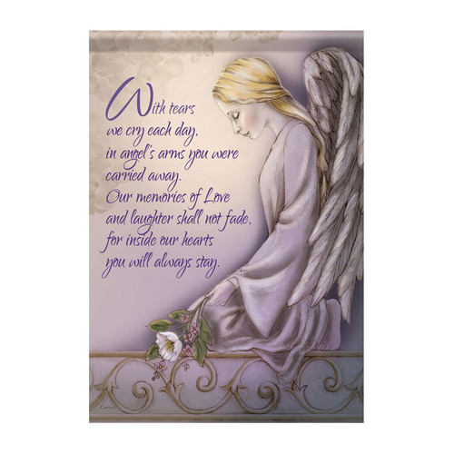 Bereavement Garden Flag - Angels Arms
