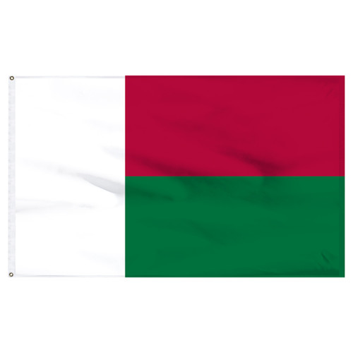 Madagascar 5ft x 8ft Nylon Flag
