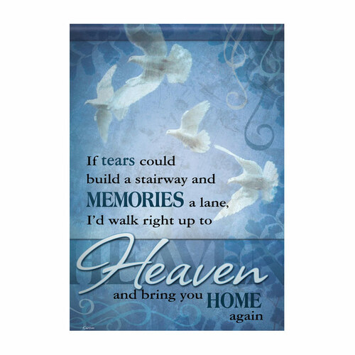 Bereavement Garden Flag - If Tears
