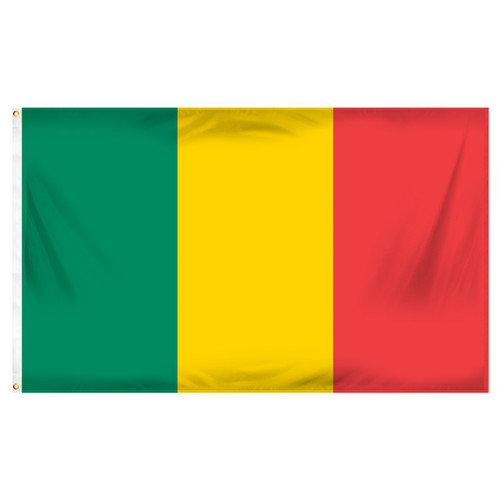 Mali 3ft x 5ft Printed Polyester Flag