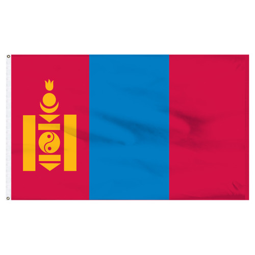 Mongolia 5ft x 8ft Nylon Flag