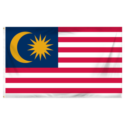 Malaysia 3ft x 5ft Printed Polyester Flag