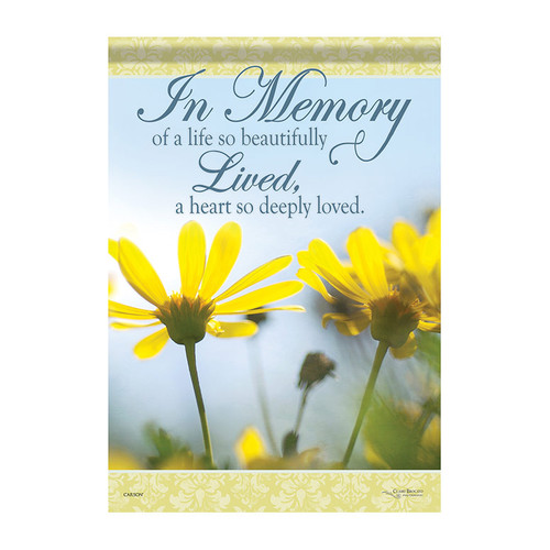 Bereavement Garden Flag - In Memory