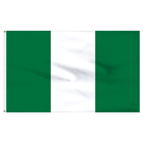 Nigeria 5ft x 8ft Nylon Flag