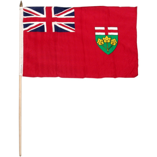 Ontario 12in x 18in Flag