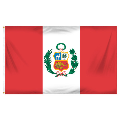 Peru 3ft x 5ft Printed Polyester Flag