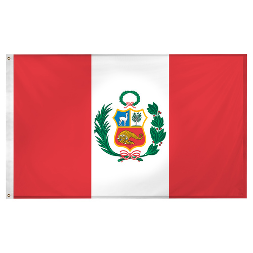 Peru flag 3ft x 5ft Super Knit Polyester