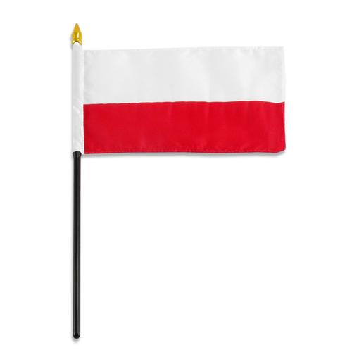 Poland National Flag 4 x 6 inch