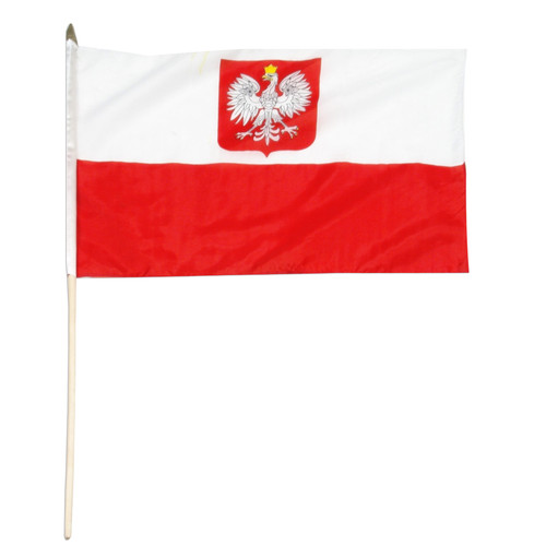 Poland State Flag and Civil Ensign 12in x 18in