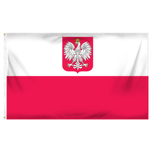 Poland State 3ft x 5ft Printed Polyester Flag