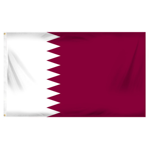 Qatar 3ft x 5ft Printed Polyester Flag