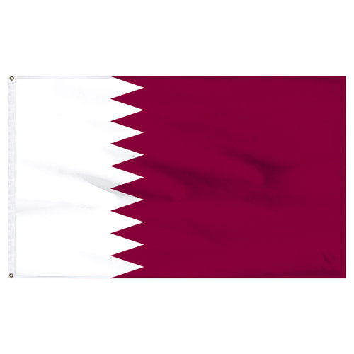 Qatar 5ft x 8ft Nylon Flag