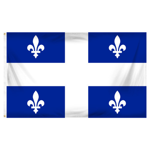 Quebec 3ft x 5ft Printed Polyester Flag