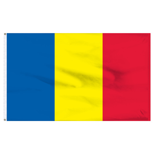 Romania 5ft x 8ft Nylon Flag