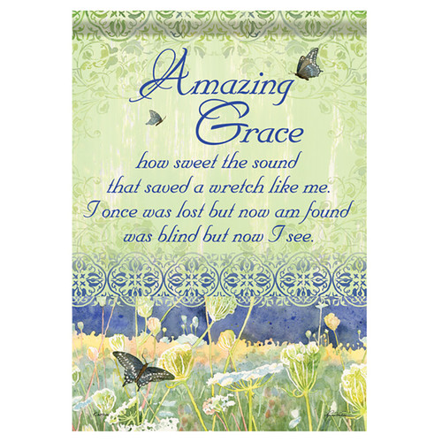 Bereavement Garden Flag - Amazing Grace