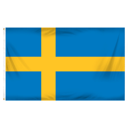 Sweden 3ft x 5ft Printed Polyester Flag