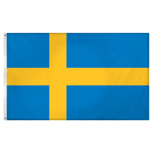 Sweden 3ft x 5ft Super Knit Polyester Flag
