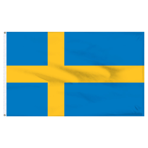 Sweden 5ft x 8ft Nylon Flag