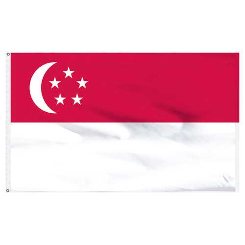 Singapore 6x10ft Nylon Flag