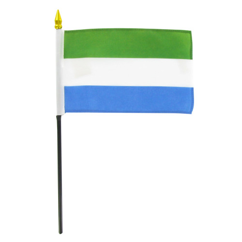 Sierra Leone 4in x 6in Stick Flag