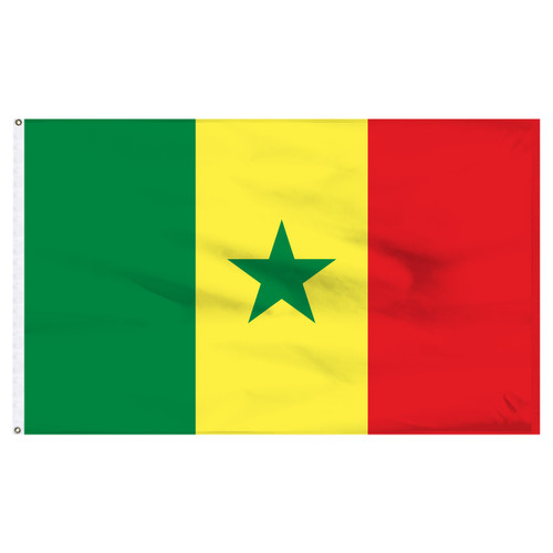 Senegal 4ft x 6ft Nylon Flag