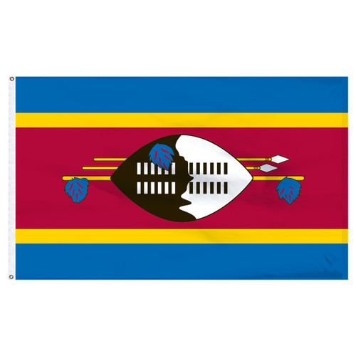 Swaziland 3ft x 5ft Nylon Flag