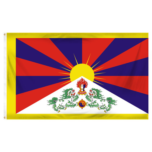 Tibet 3ft x 5ft Printed Polyester Flag