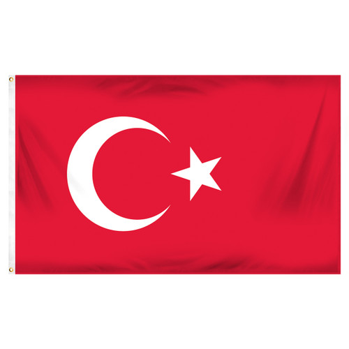 Turkey 3ft x 5ft Printed Polyester Flag