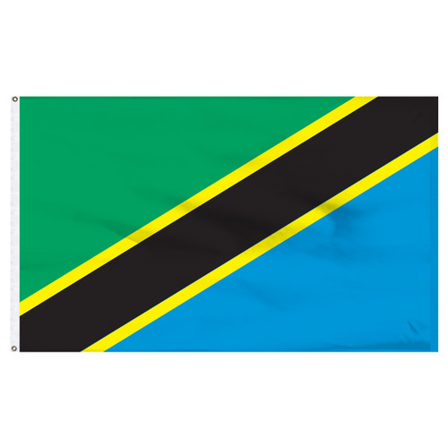 Tanzania 5ft x 8ft Nylon Flag