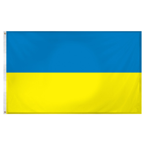 Ukraine Flag 3ft x 5ft Super Knit Polyester