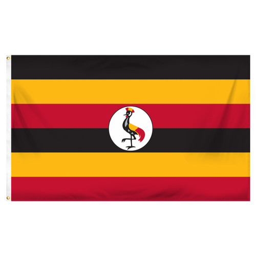 Uganda 3ft x 5ft Printed Polyester Flag