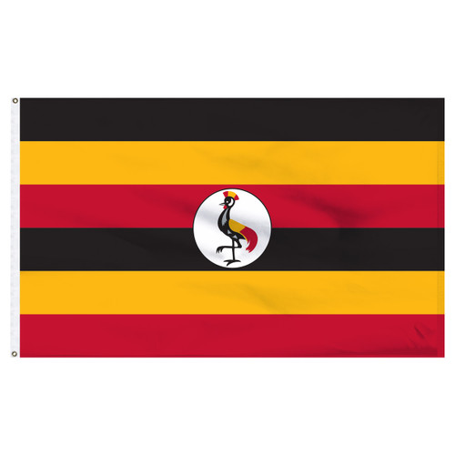 Uganda 4ft x 6ft Nylon Flag