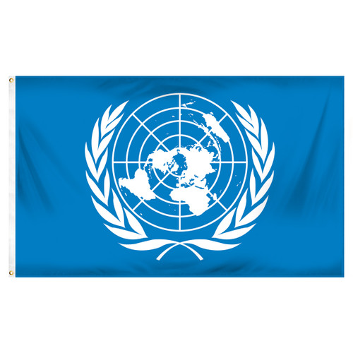 United Nations 3ft x 5ft Printed Polyester Flag