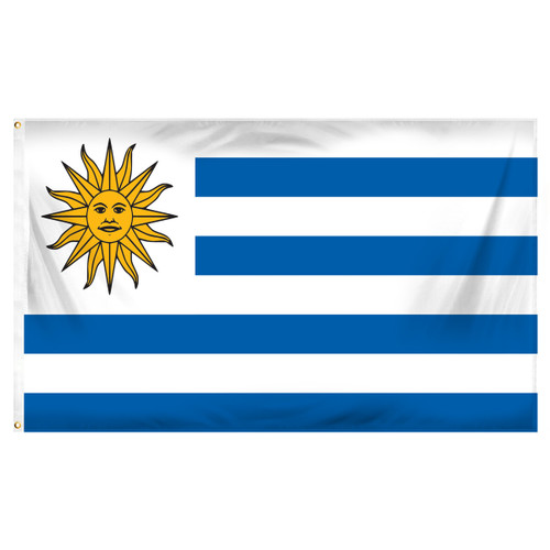 Uruguay 3ft x 5ft Printed Polyester Flag