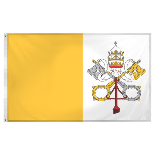 Vatican flag 3ft x 5ft Super Knit Polyester