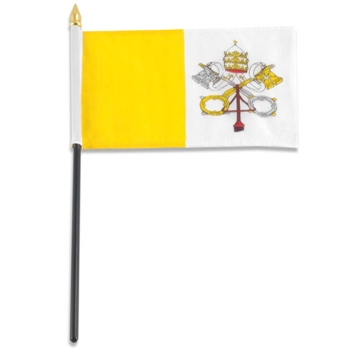 Vatican City flag 4 x 6 inch