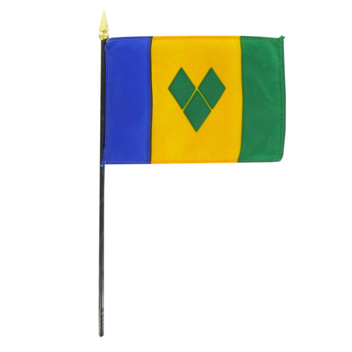 St. Vincent and the Grenadines 4in x 6in Hand Flag