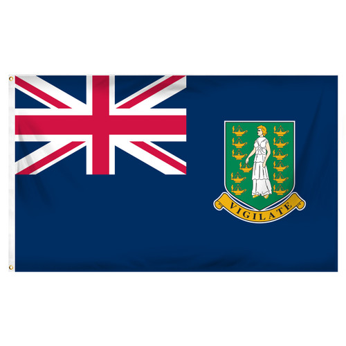 British Virgin Islands 3ft x 5ft Printed Polyester Flag